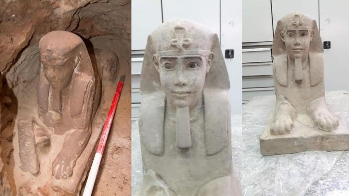 Esfinge hallada en Egipto