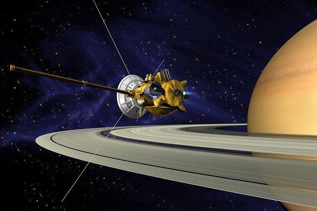 La sonda espacial Cassini se aproximó a Saturno y grabó una serie de ondas de radio.