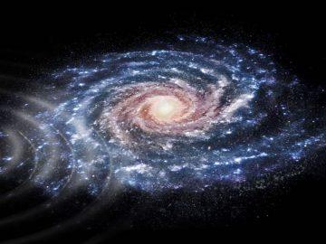 Colisión con otra galaxia causó que las estrellas de la Vía Láctea se muevan como ondas en un estanque