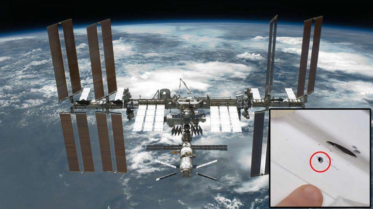Una persona habría perforado la Estación Espacial Internacional de forma deliberada