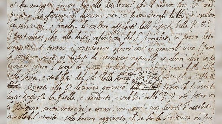 Hallan carta de Galileo en la que tuvo que editar sus idea «heréticas» para evitar la Inquisición