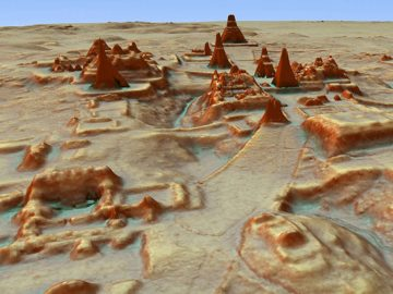 Láser penetra la selva revelando miles de antiguas estructuras mayas