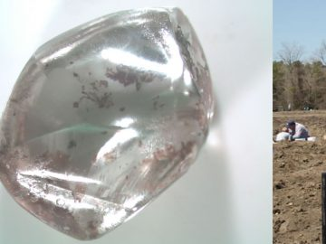 Mujer encuentra un diamante blanco de 3 quilates en Arkansas