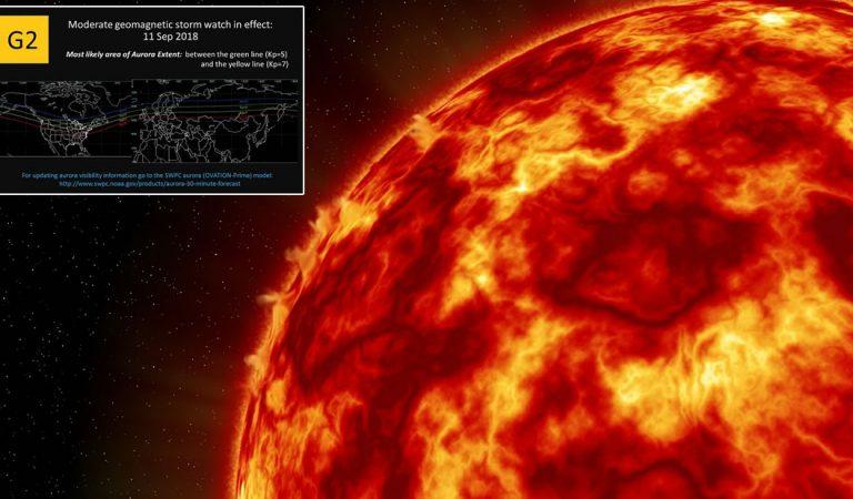 Se abre un gran agujero en la corona solar… Una tormenta geomagnética está en camino