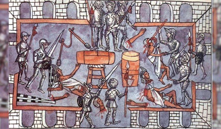 Tóxcatl, Matanza del Templo Mayor: espeluznante testimonio de escribas aztecas