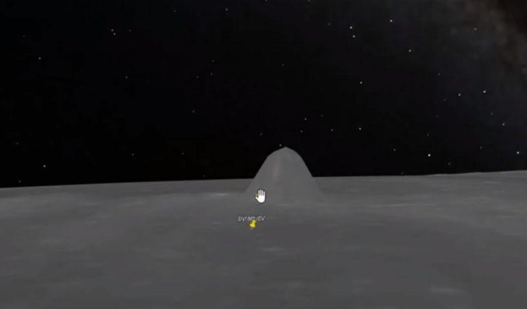 Una extraña «estructura piramidal» en la Luna es revelada en Google Moon