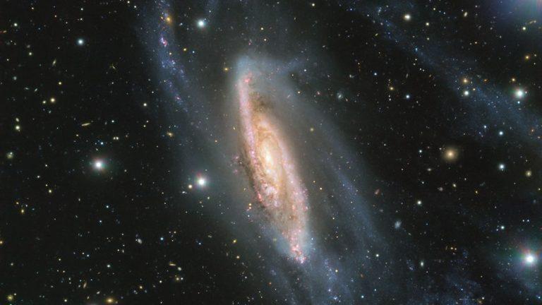 Una joya galáctica: Capturan impresionante imagen de la galaxia espiral NGC 3981