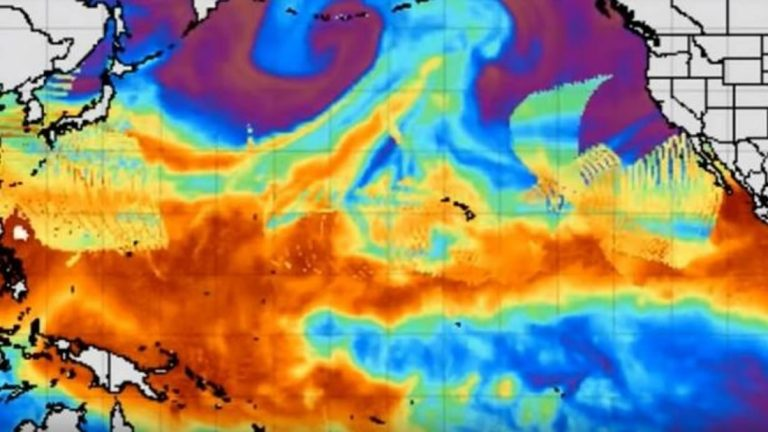 Una serie de anomalías se extienden a través del Océano Pacífico