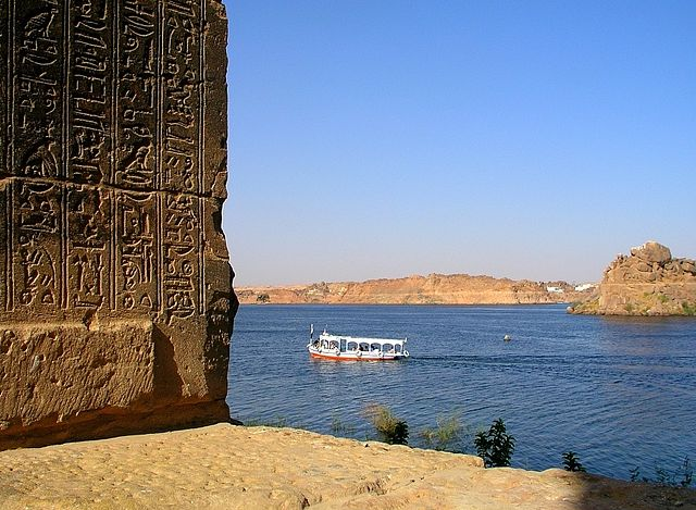 El Nilo visto desde el templo de Isis