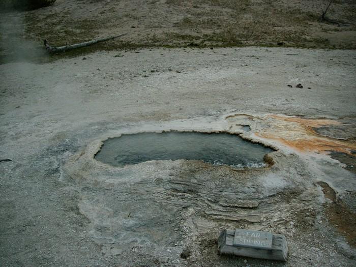 Géiser Ear Spring en Yellowstone