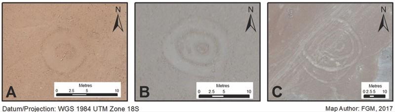 Estos círculos misteriosos están grabados en el desierto del sur del Perú. Los investigadores informaron que se remontan a entre el 200 y el 1400 d.C. Además, los círculos están estrechamente relacionados con los senderos que se usan para transportar mercancías por la región