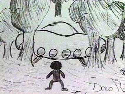 Uno de los dibujos realizados por los niños