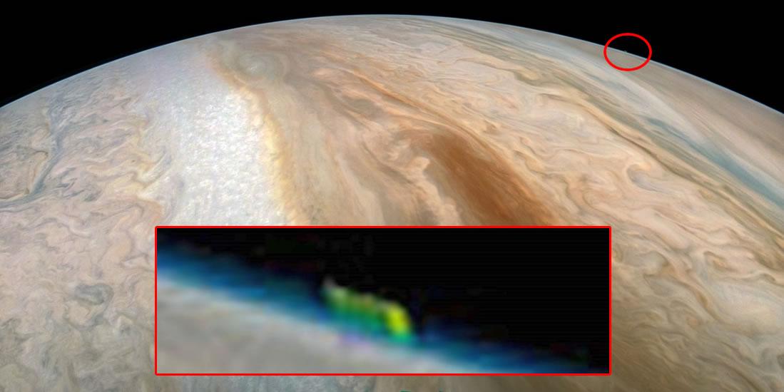 ¿Qué es esta anomalía sobre Júpiter?