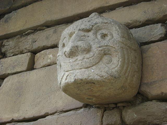 Cabeza clava en Chavín de Huántar. «Dios sonriente»