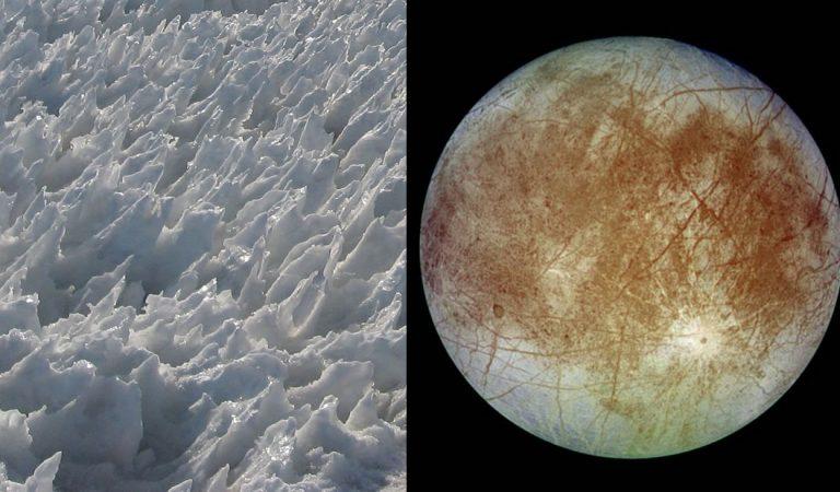 «Cuchillas» de hielo de 15 metros impedirían aterrizar en luna Europa