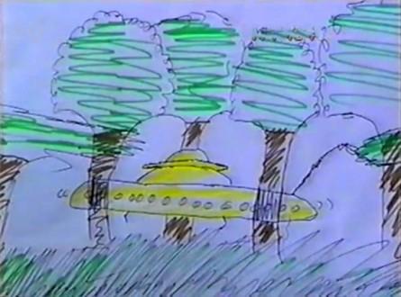 Otro de los dibujos realizados por los niños testigos del incidente