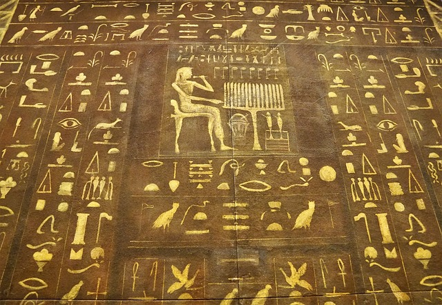 Jeroglíficos dorados de Egipto