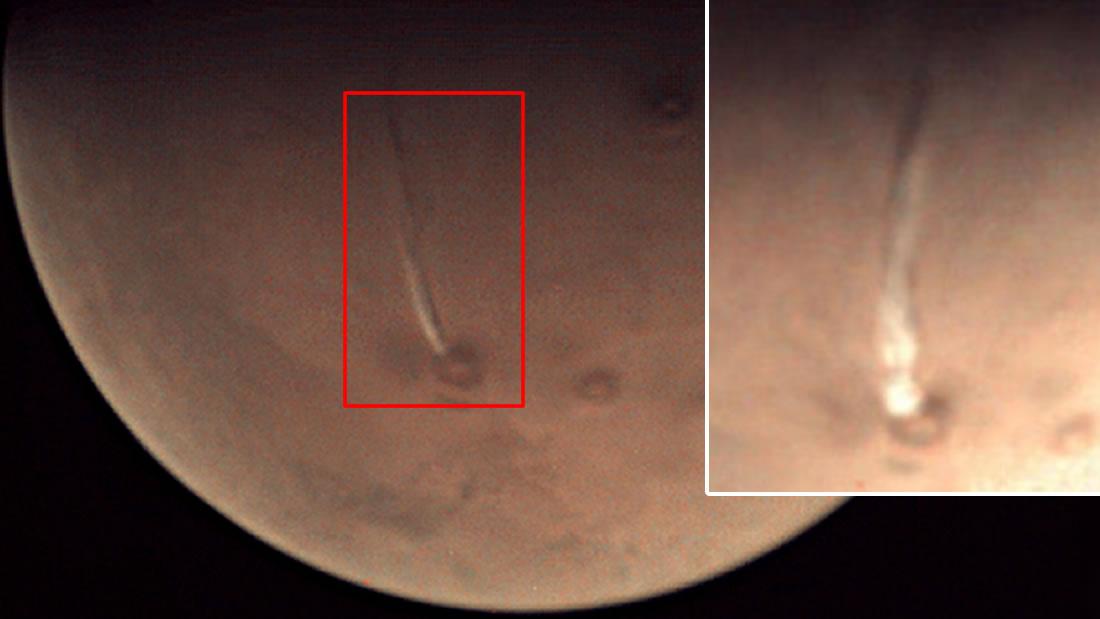 ¿Erupción gigantesca de un volcán en Marte?