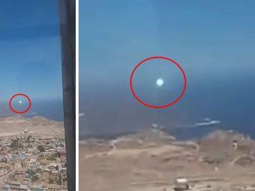 Esfera luminosa volando sobre Chile es grabada en vídeo