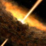 Este agujero negro supermasivo usa un campo magnético para tragarse un «donut» cósmico