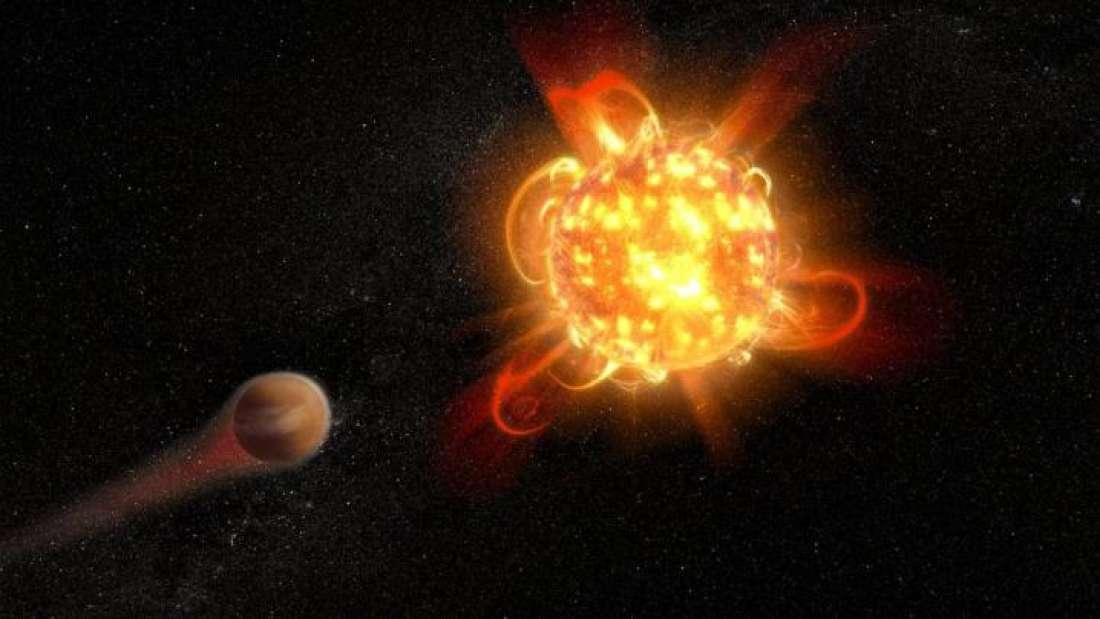 Estrella enana roja lanza una superllamarada 30 veces más fuerte de lo normal