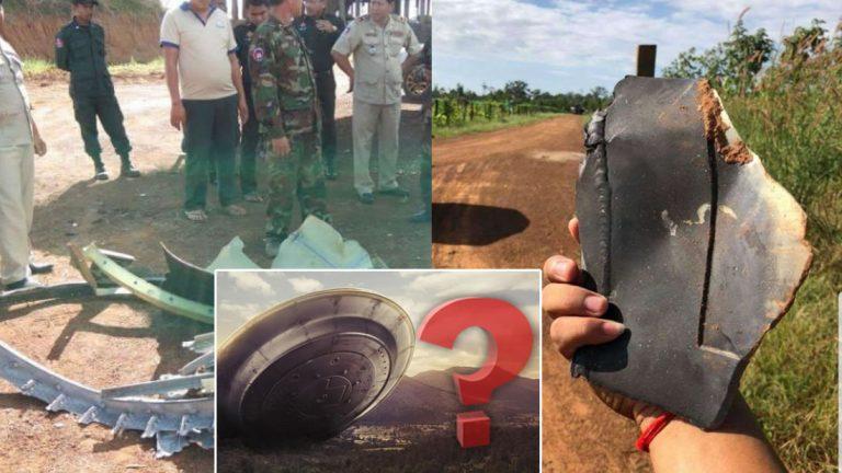Fragmentos de un «OVNI» caen del cielo en una aldea de Camboya