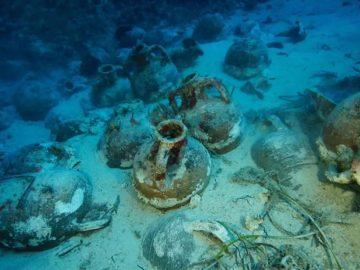 Hallan un naufragio de 2.000 años en el Mar Egeo