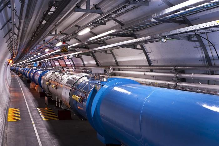 Uno de los túneles en el LHC