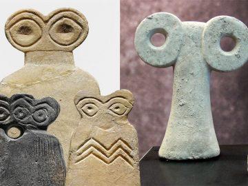 Los Ídolos de los Ojos en Siria: esotéricas estatuillas con apariencia alienígena