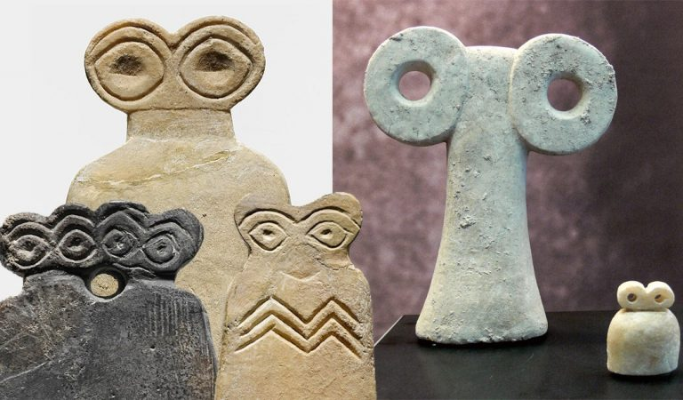Los Ídolos de los Ojos en Siria: esotéricas estatuillas con apariencia «alienígena»