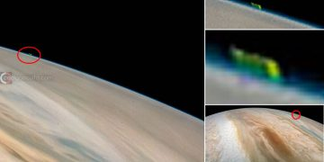 ¿Qué es esta anomalía fotografiada sobre Júpiter por la NASA?