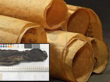 Rayos X revelan un texto oculto en un deteriorado rollo de pergamino de 500 años