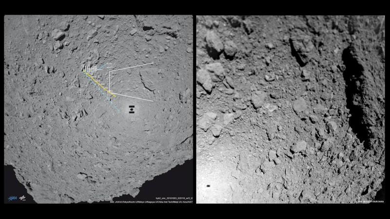 Imágenes del asteroide Ryugu