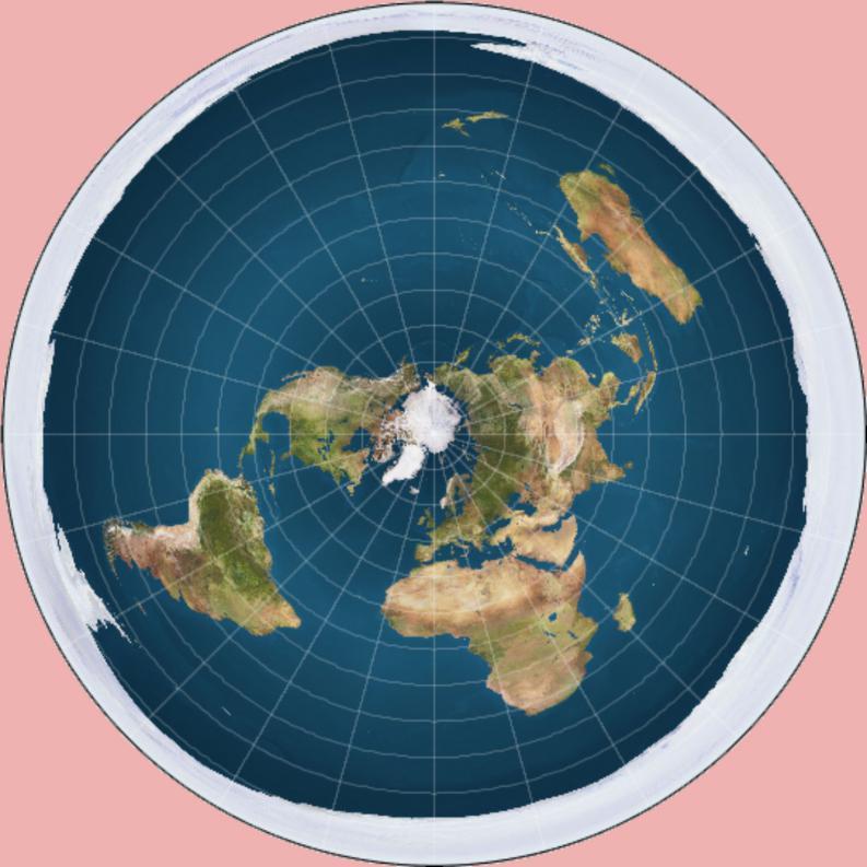 Así sería el planeta según los terraplainistas