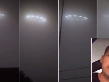 Testigo transmite en vivo una supuesta flotilla de OVNIs sobre Rosarito, México (Vídeo)