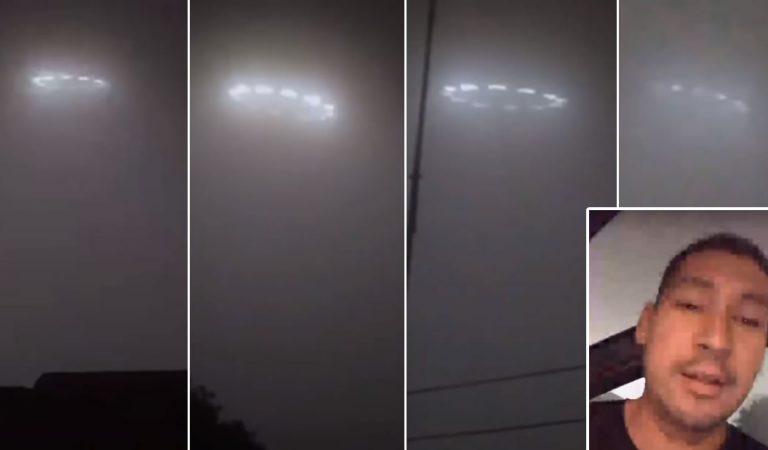 Testigo transmite en vivo una supuesta flota de OVNIs sobre Rosarito, México (Vídeo)