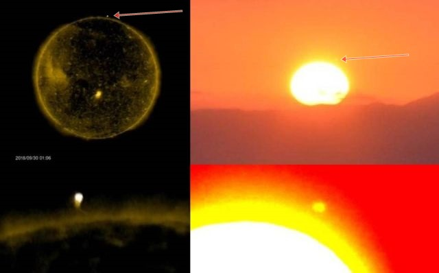 ¿Es esto un objeto fotografiado cerca del Sol?