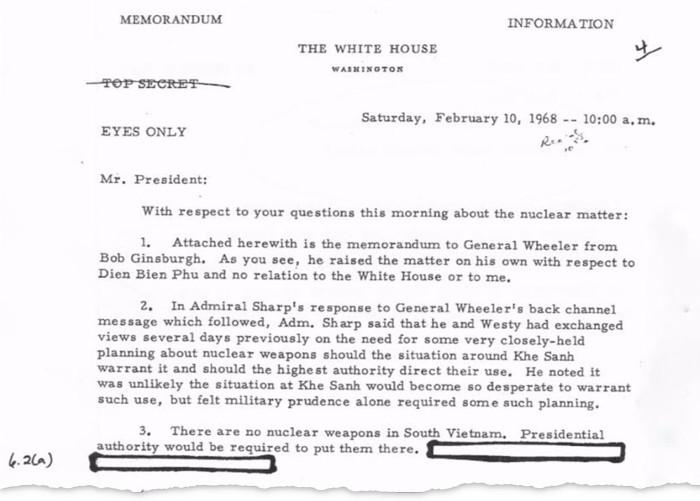 Documentos desclasificados revelan que EE.UU. quería usar armas nucleares en Vietnam