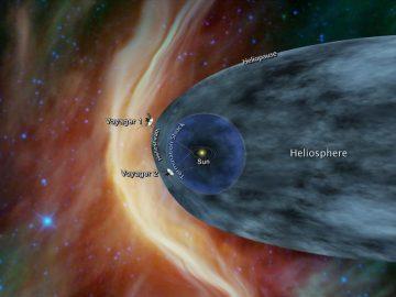 Voyager 2 a punto de cruzar al espacio interestelar