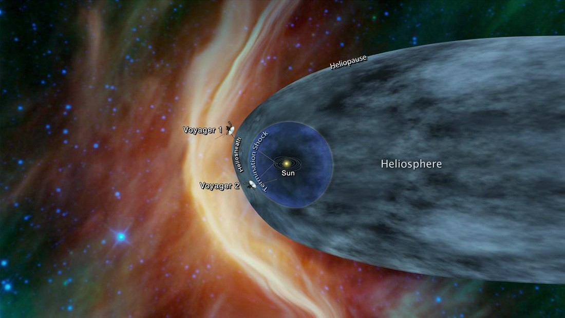 Voyager 2 a punto de cruzar al espacio interestelar