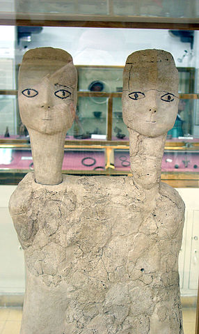 Bustos de «2 cabezas» de Ain Ghazal, Museo de Jordania