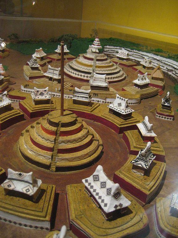 Foto de un modelo a escala de la Ciudad de Guachimontones. Modelo del Museo de Teuchitlán