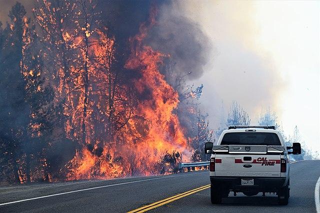 Uno de los incendios forestales de California. Se han intensificado debido al calentamiento global