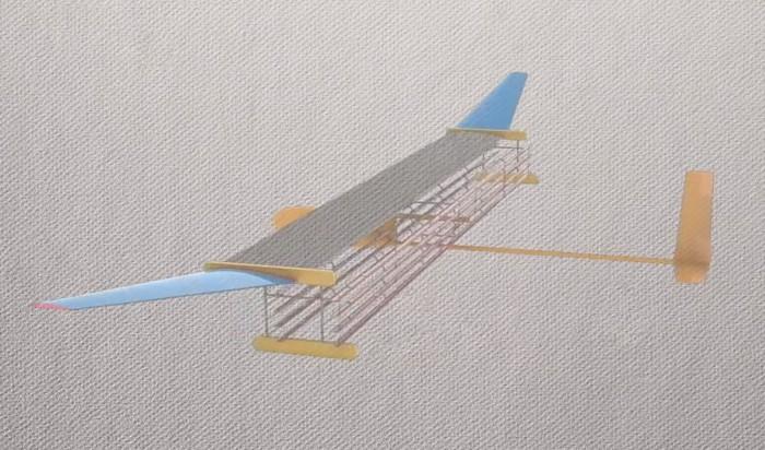 Modelo del avión construido