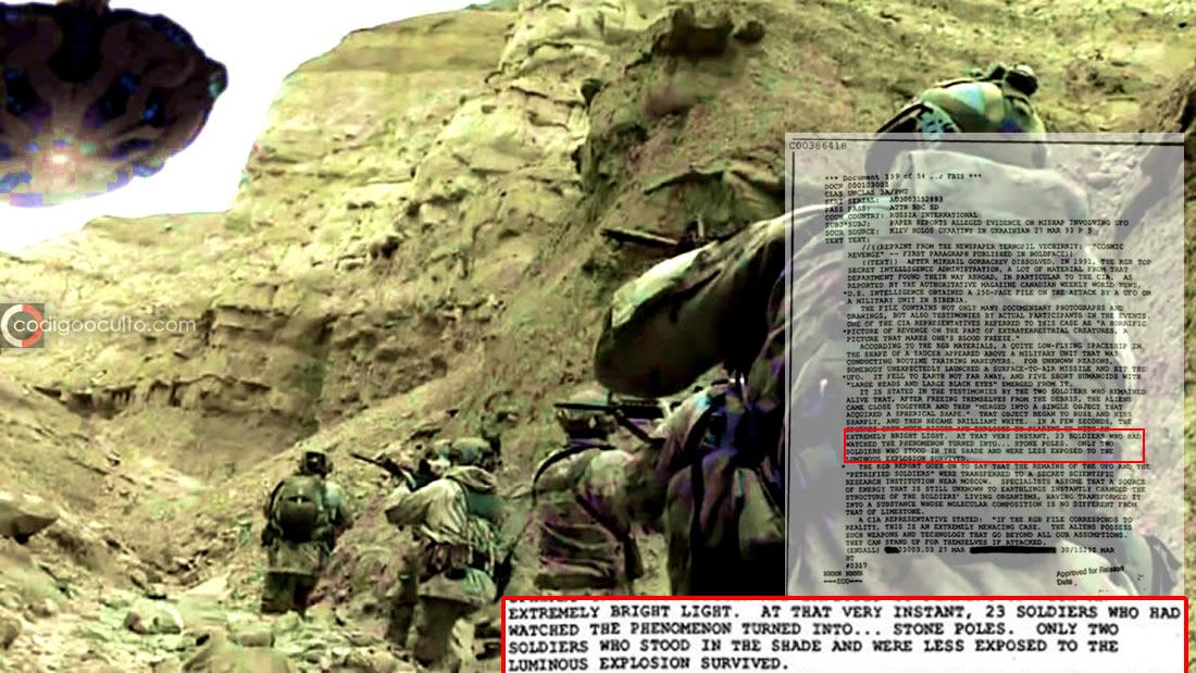 Archivo de la CIA afirma que soldados rusos fueron convertidos en piedra por extraterrestres