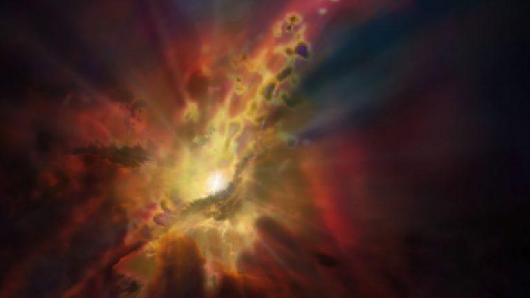Astrónomos hallan un agujero negro supermasivo que actúa como una fuente gigante