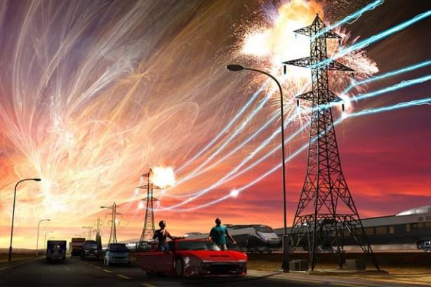 Un EMP también podría ser causado por una tormenta solar devastadora
