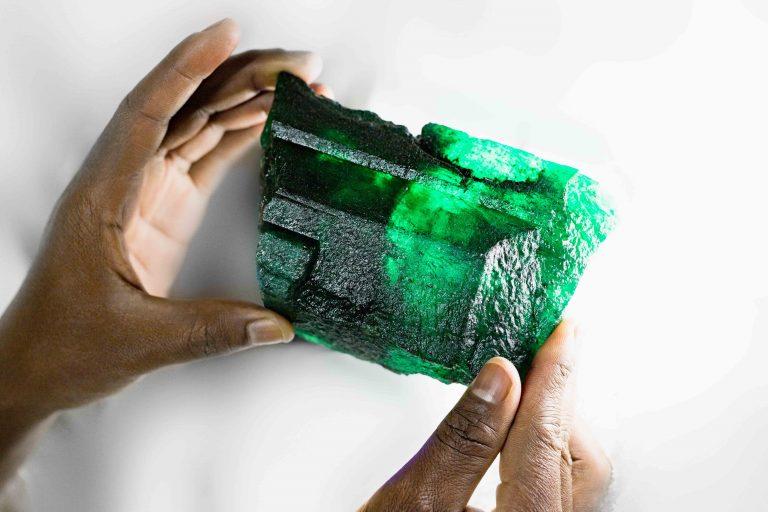 La gema «gigante» fue hallada en la mina de esmeraldas Kagem en Zambia