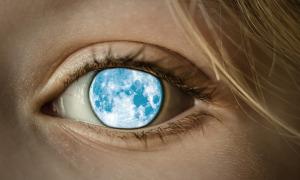 Imagen ilustrativa de uno de los seres Ojos de Luna, descritos por los indios Cheroqui