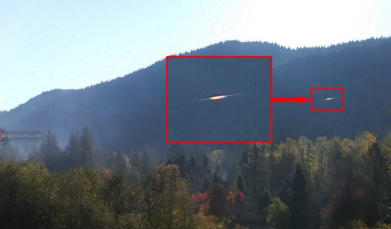 Fotografían un disco dorado en el cielo en Welches, Oregon. EE.UU